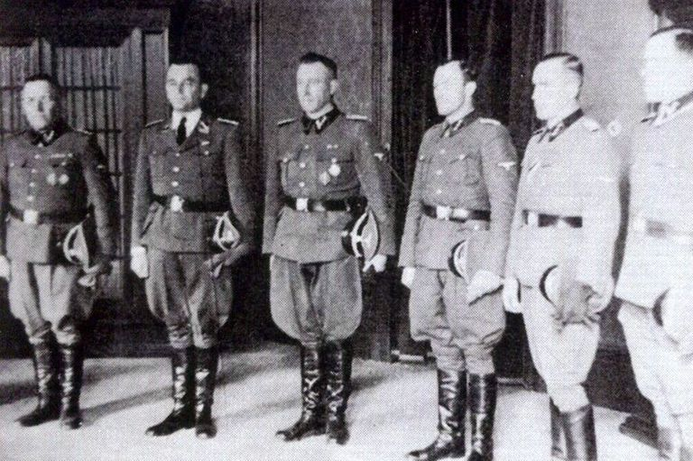 Franz Stangl with other Nazis
