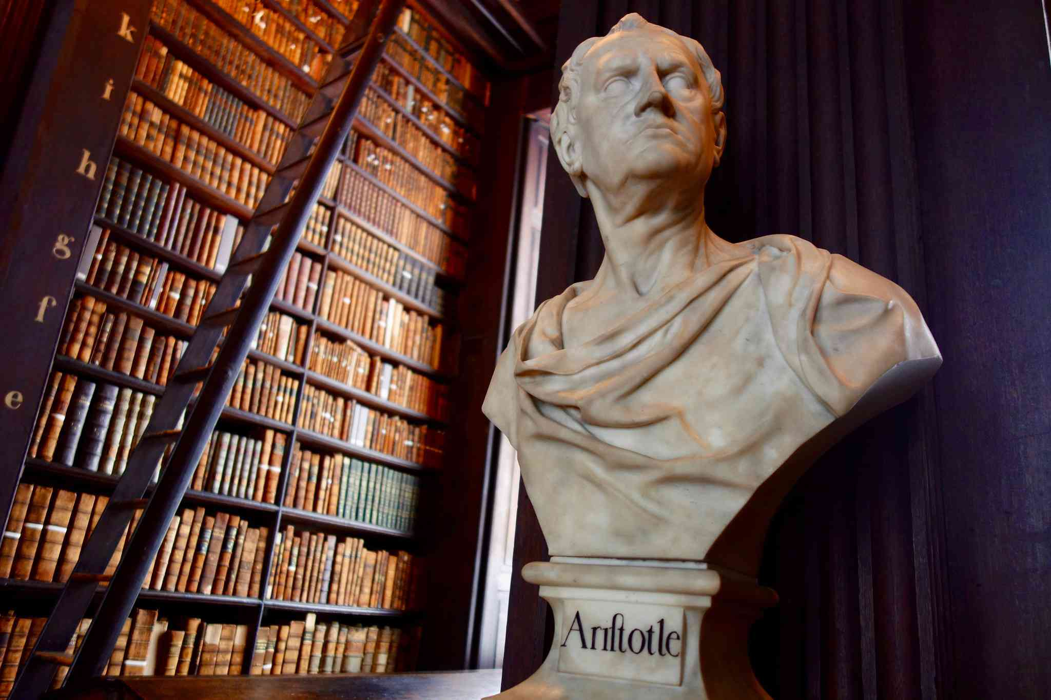 Aristotle Bust at Old Library Long Room, Trinity College Dublin