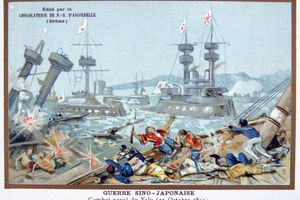 Battle of the Yalu River, Sino-Japanese War, 25 October 1894.