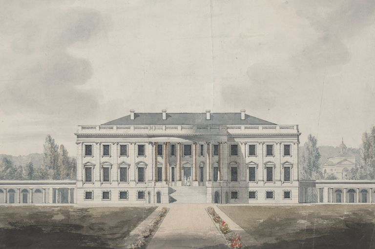 South Front Elevation Drawing of the White House Proposed by Benjamin Henry Latrobe