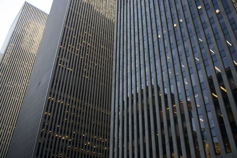 Office towers along 6th avenue.