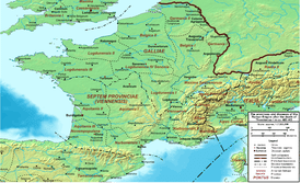 A map of Gaul around 400 A.D.