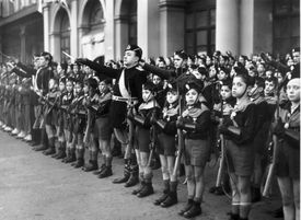 Members of the Italian youth fascist organisation, the Balilla.