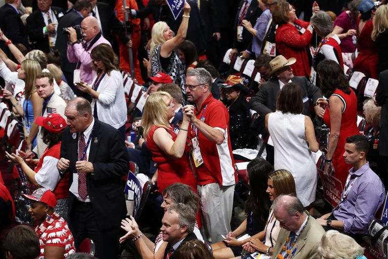Dancing at Donald Trump's nominating convention.