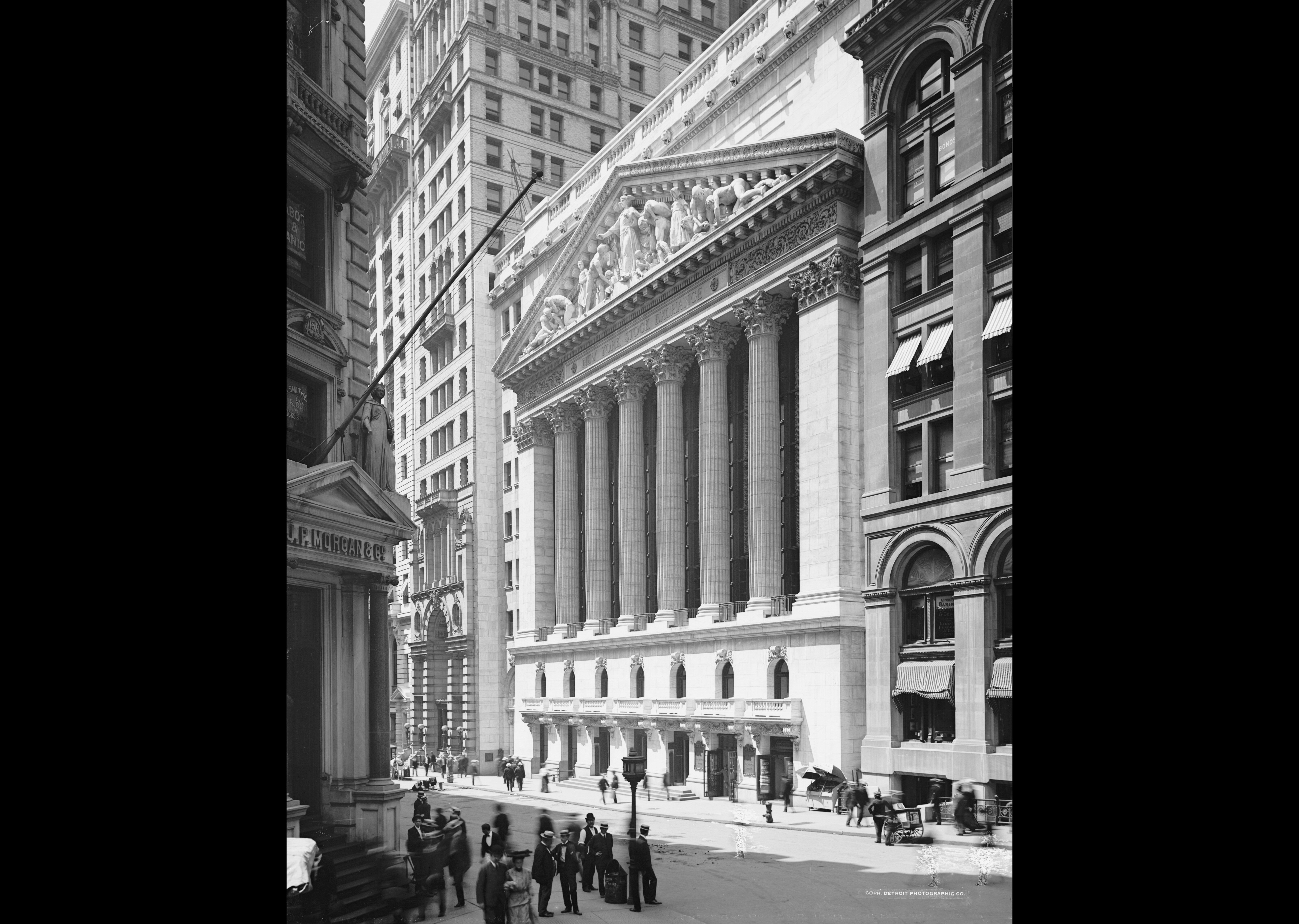 Photograph from 1904 of the New York Stock Exchange building