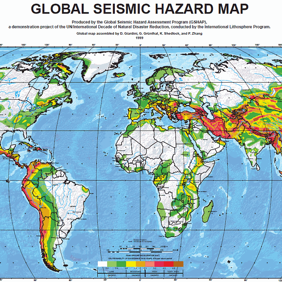 Map Of The World Com.Major Earthquake Zones Worldwide