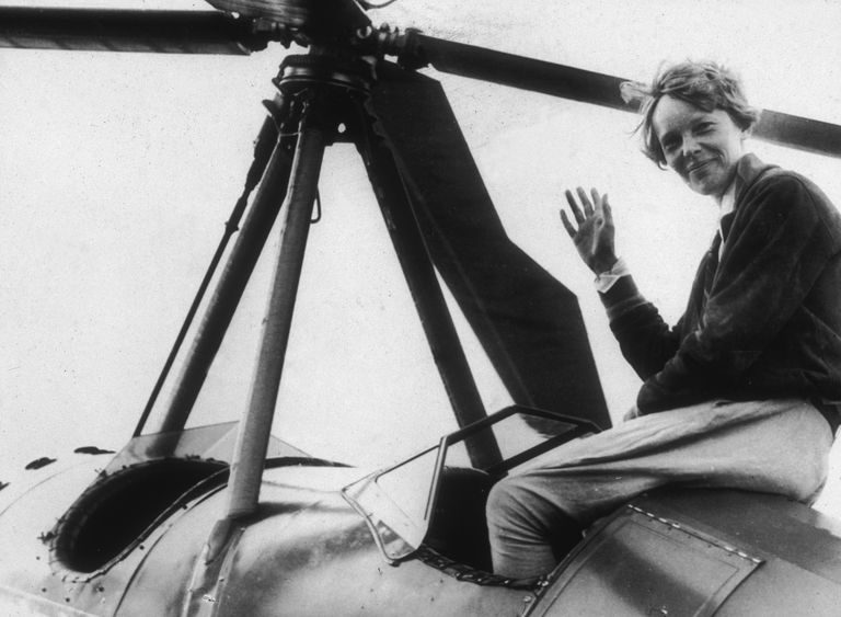 Portrait of Amelia Earhart