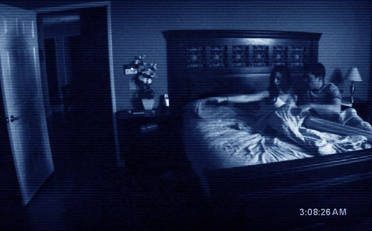 Katie Featherston and Micah Sloat encounter an evil presence in their home in 'Paranormal Activity'.