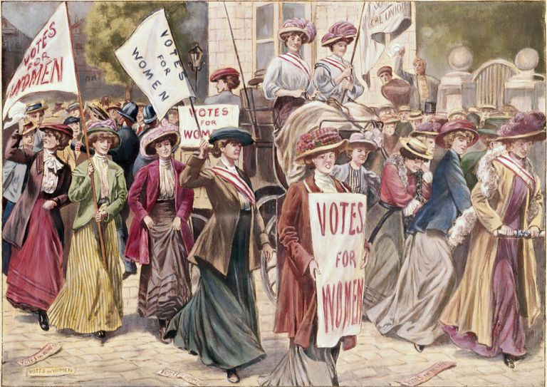 Suffrage Demonstration in London