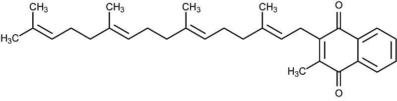 This is the chemical structure of menaquinone-4.