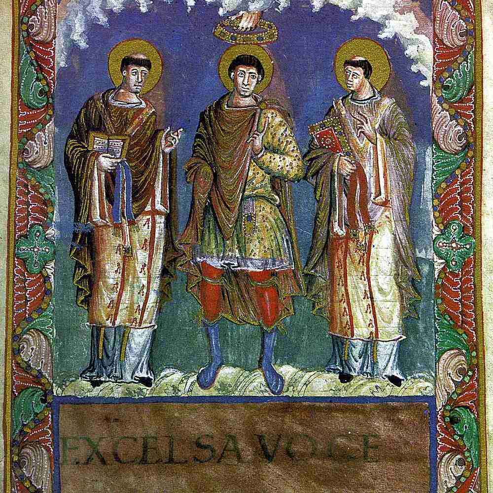 Image from a 9th-century sacramentary