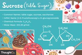 Sucrose (table sugar) chemical formula
