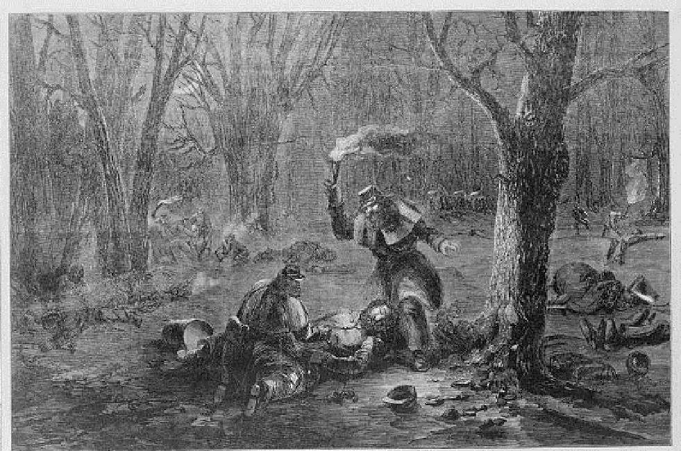 Print depicting soldiers in the American Civil War