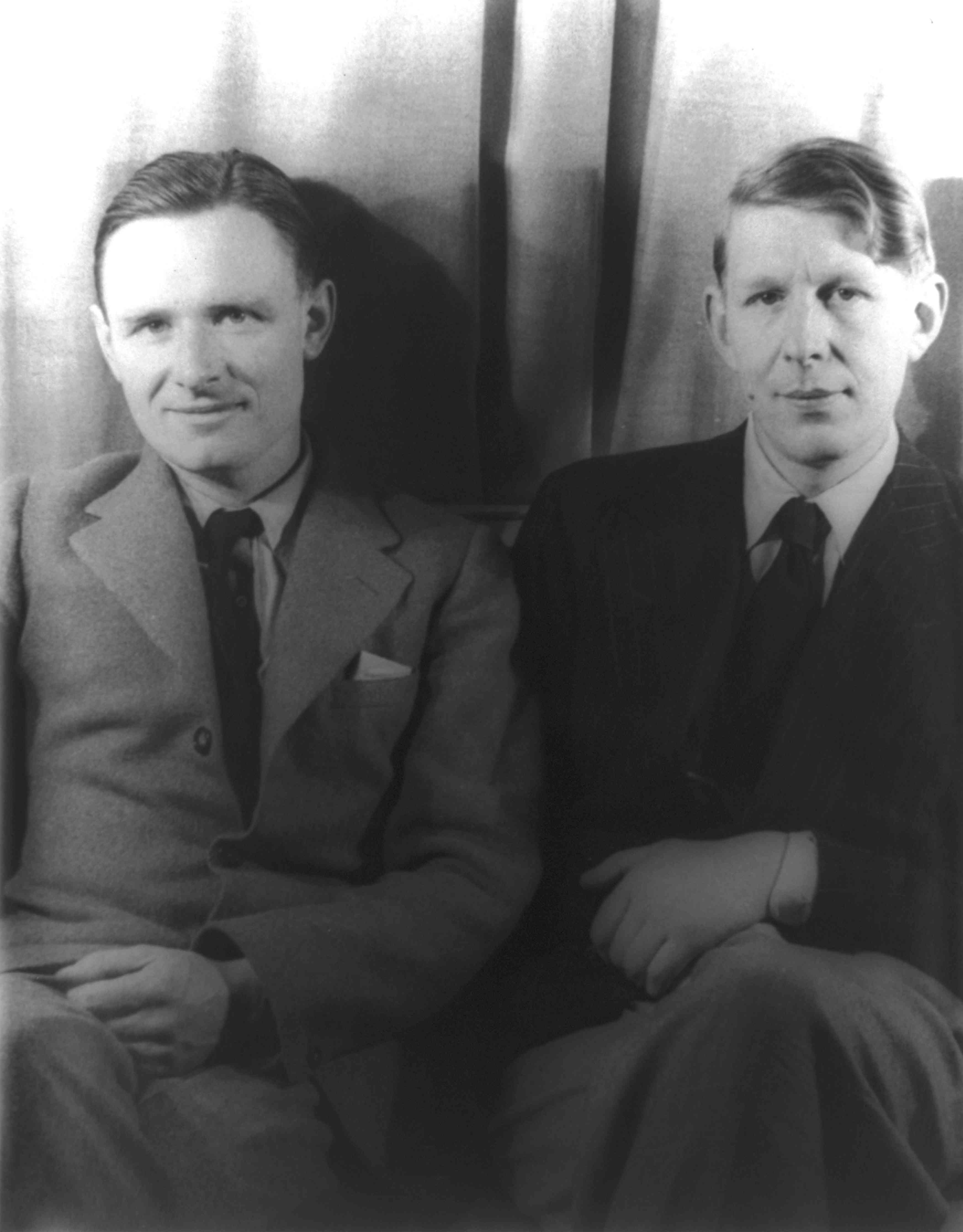 Portrait of Christopher Isherwood and W.H. Auden