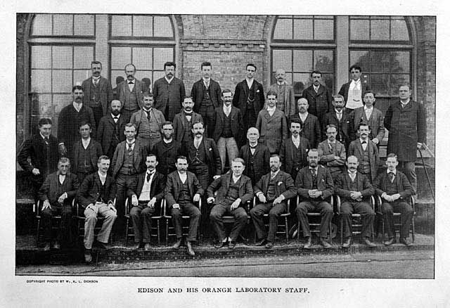 Edison and some of his Muckers at the West Orange Laboratory