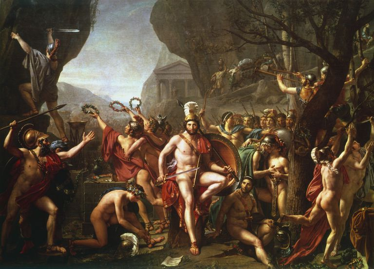 'Leonidas at Thermopylae', 5th century BC, (c1814). Artist: Jacques-Louis David