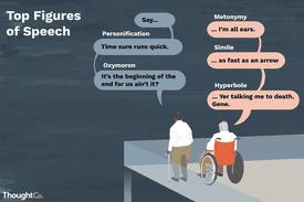 Two elderly gentlemen have a conversation utilizing common figures of speech.