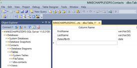 An SQL Server dialog box