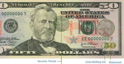 The New $50 Dollar Bill