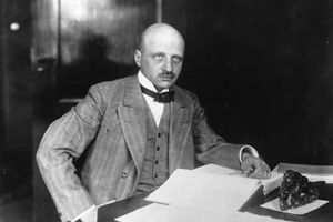 Fritz Haber portrait in black and white