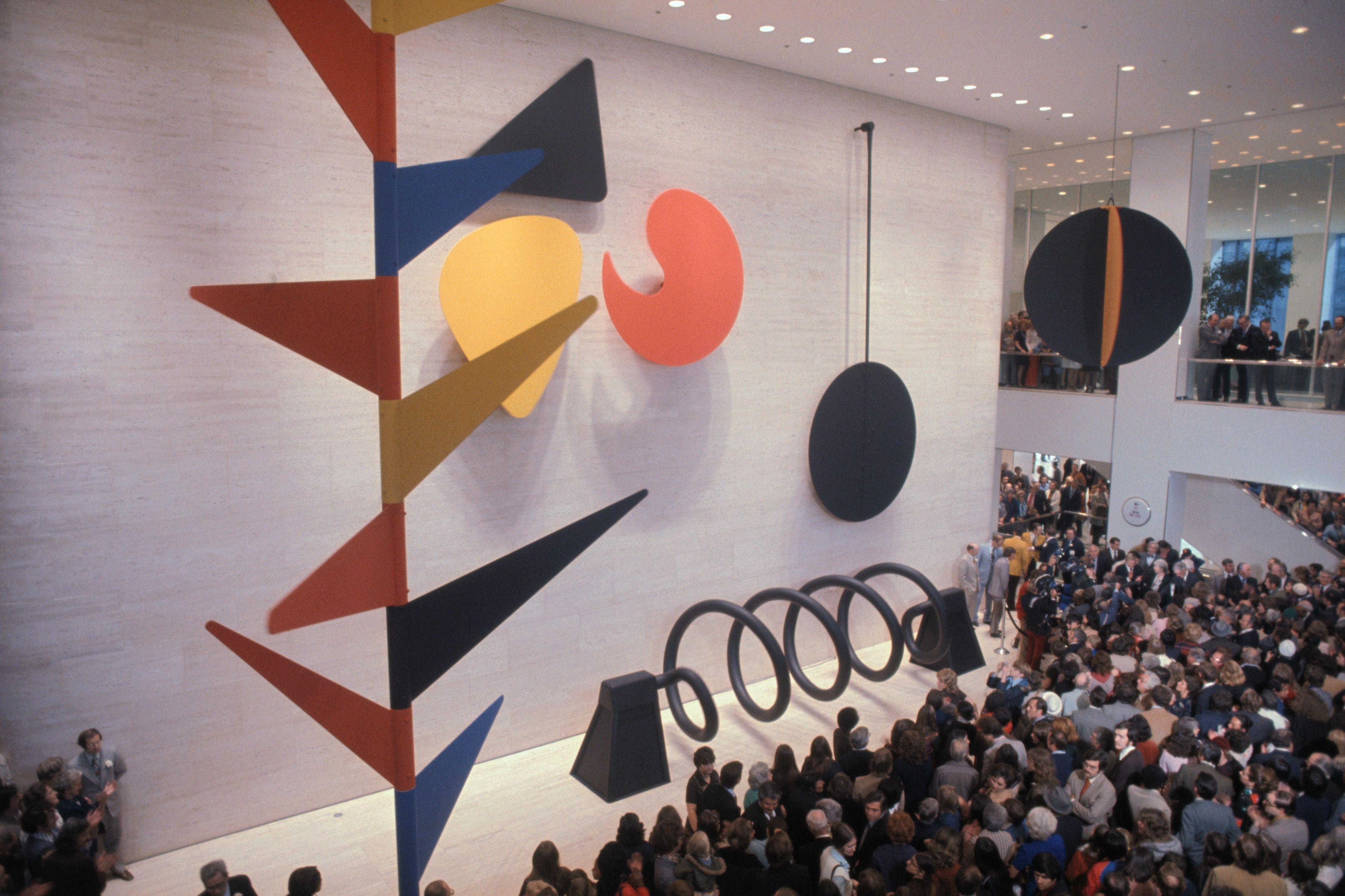 Moving Mural by Alexander Calder being dedicated