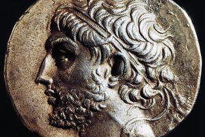 Silver tetradrachm of Philip V of Macedon.