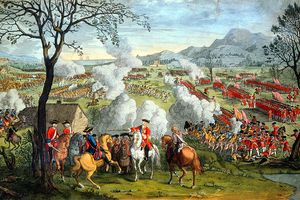 Depiction of the Battle of Culloden, 1746