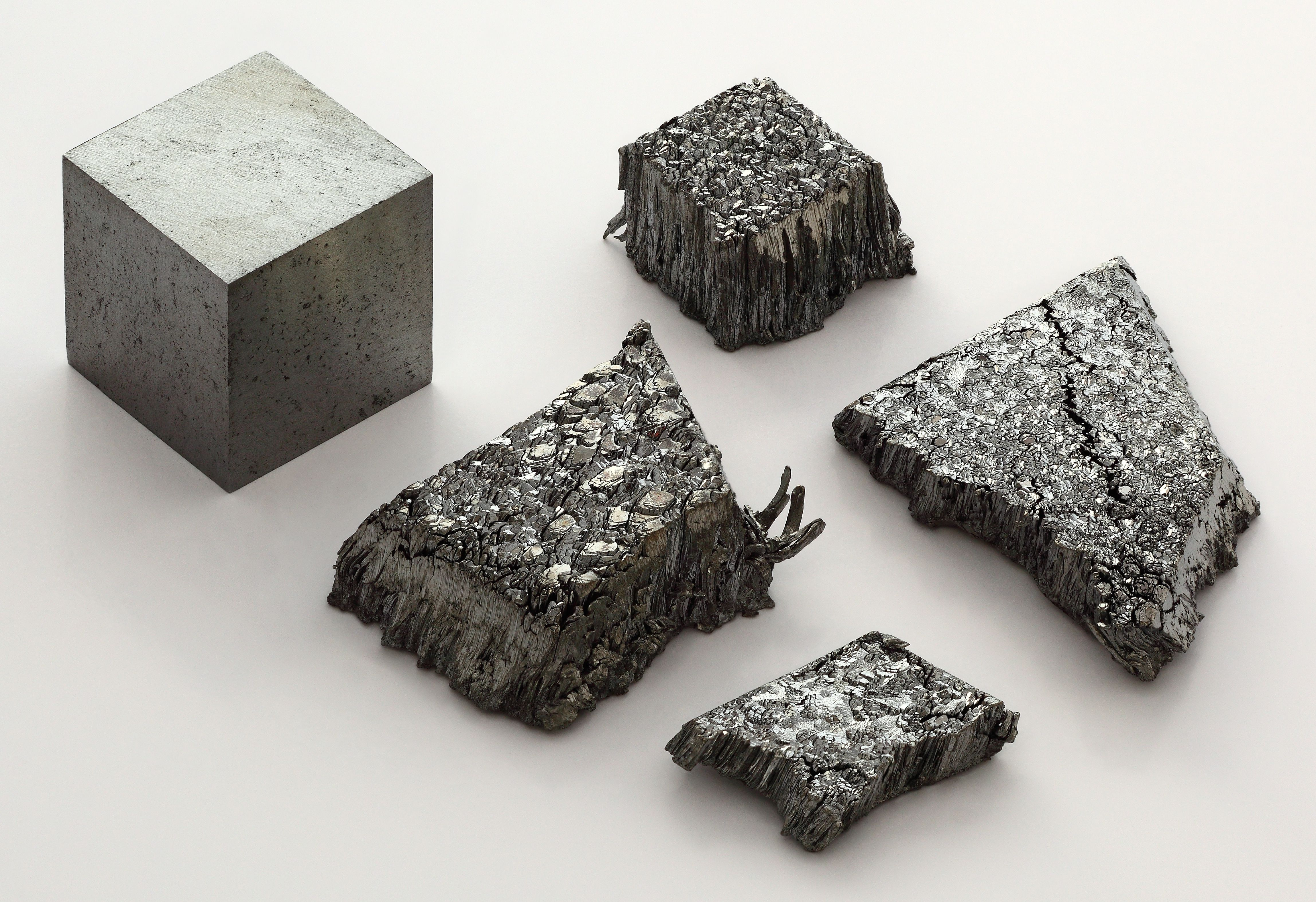 This is a photo of various forms of lutetium.