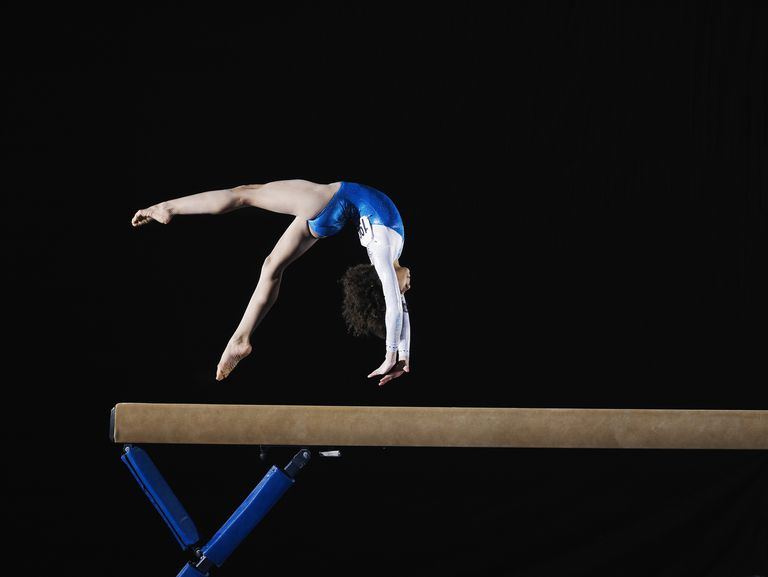 Gymnast on the balance beam