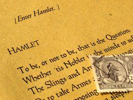 Original Hamlet stamp and book.