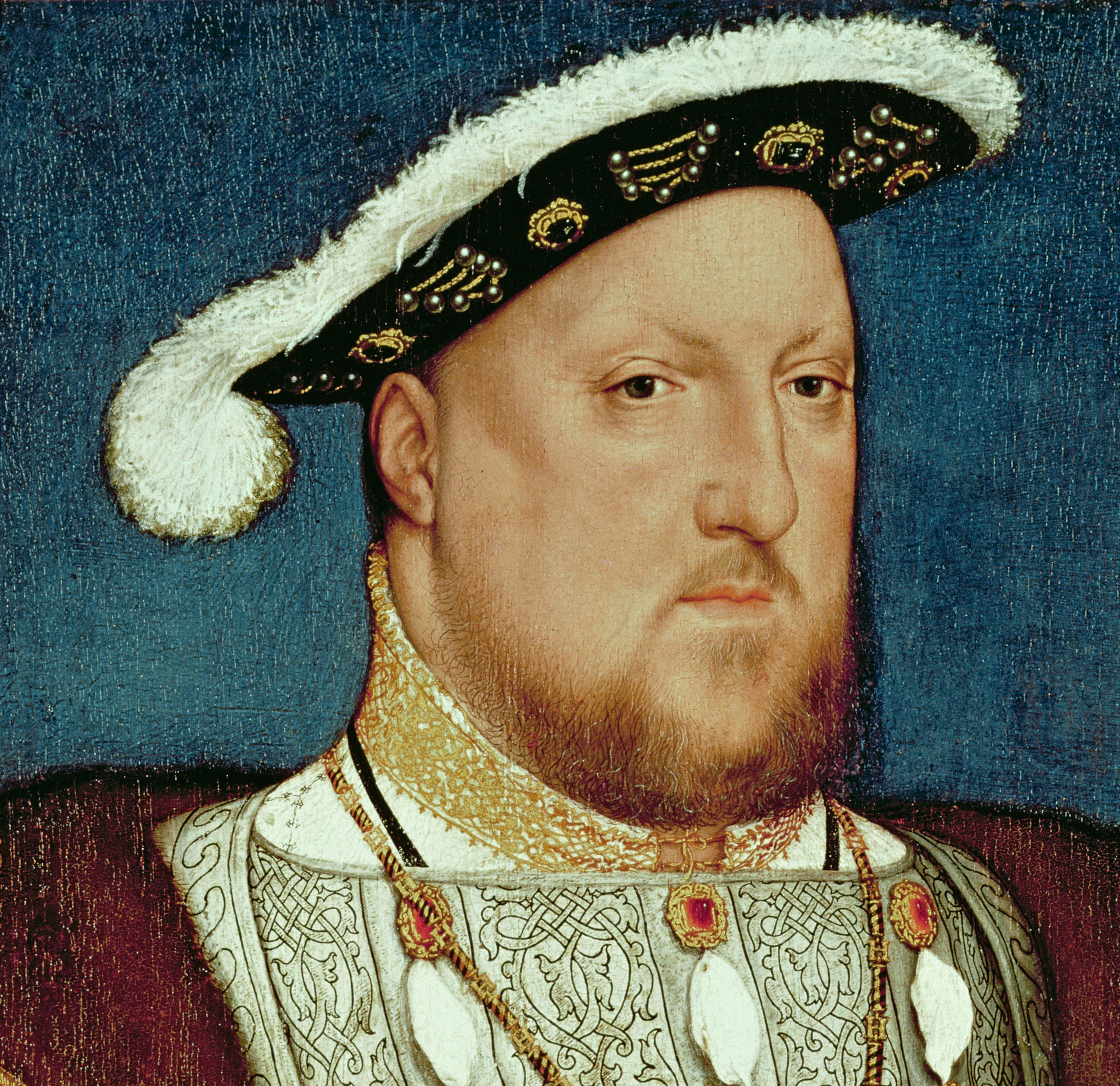 Oil on oak painting of King Henry VIII.