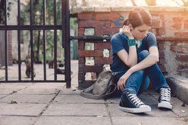 Frustrated teenage girl