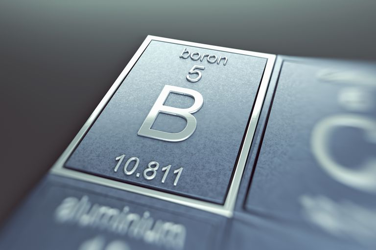 Element atomic number 5 is boron. Boron is a lustrous, black semimetal.