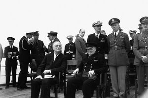 Franklin D. Roosevelt and Winston Churchill at the Atlantic Charter Conference