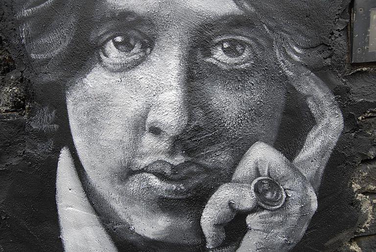 Oscar Wilde painted portrait