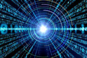binary code with circles