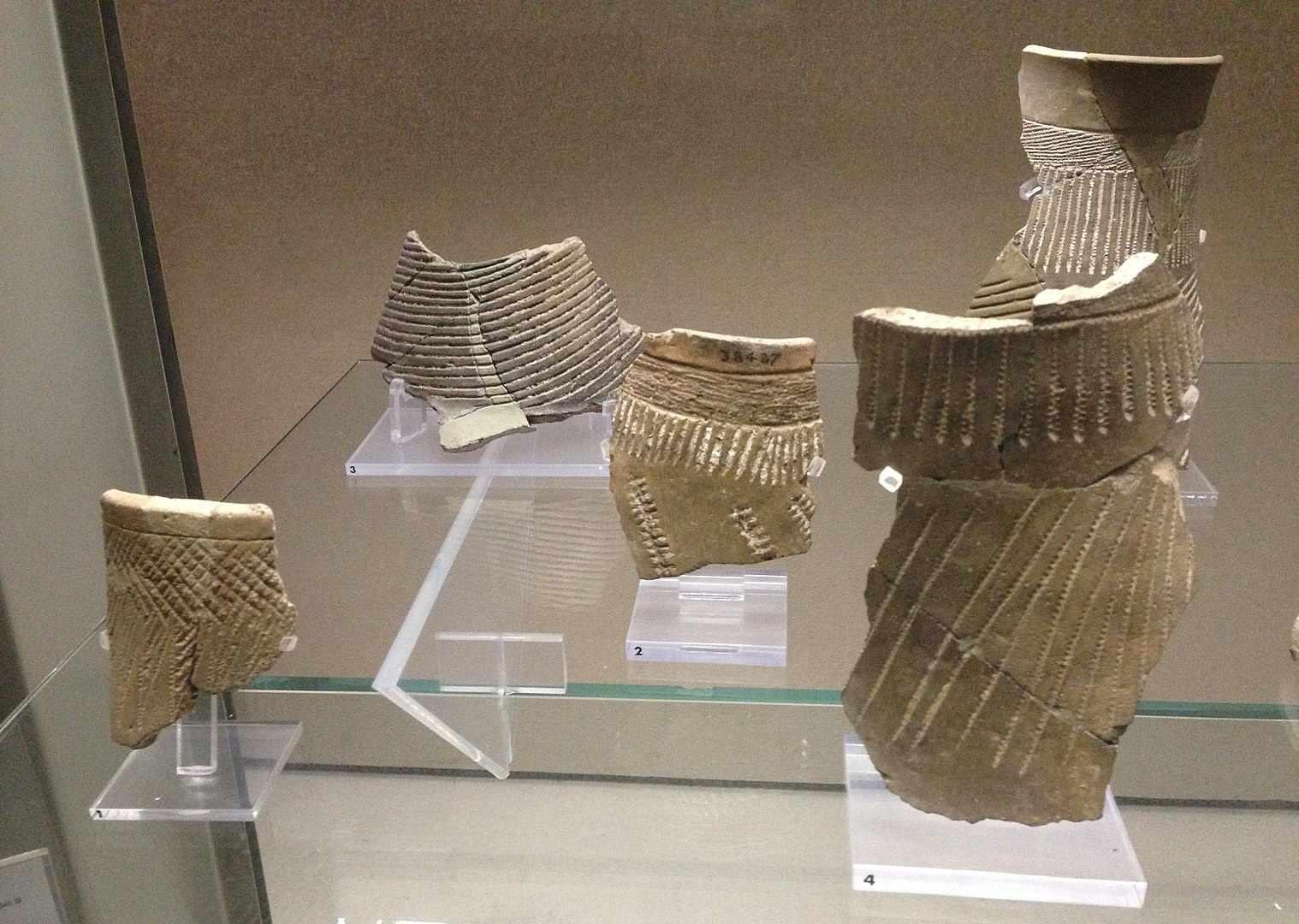 Keramikfragmente bei Stentinello gefunden.
