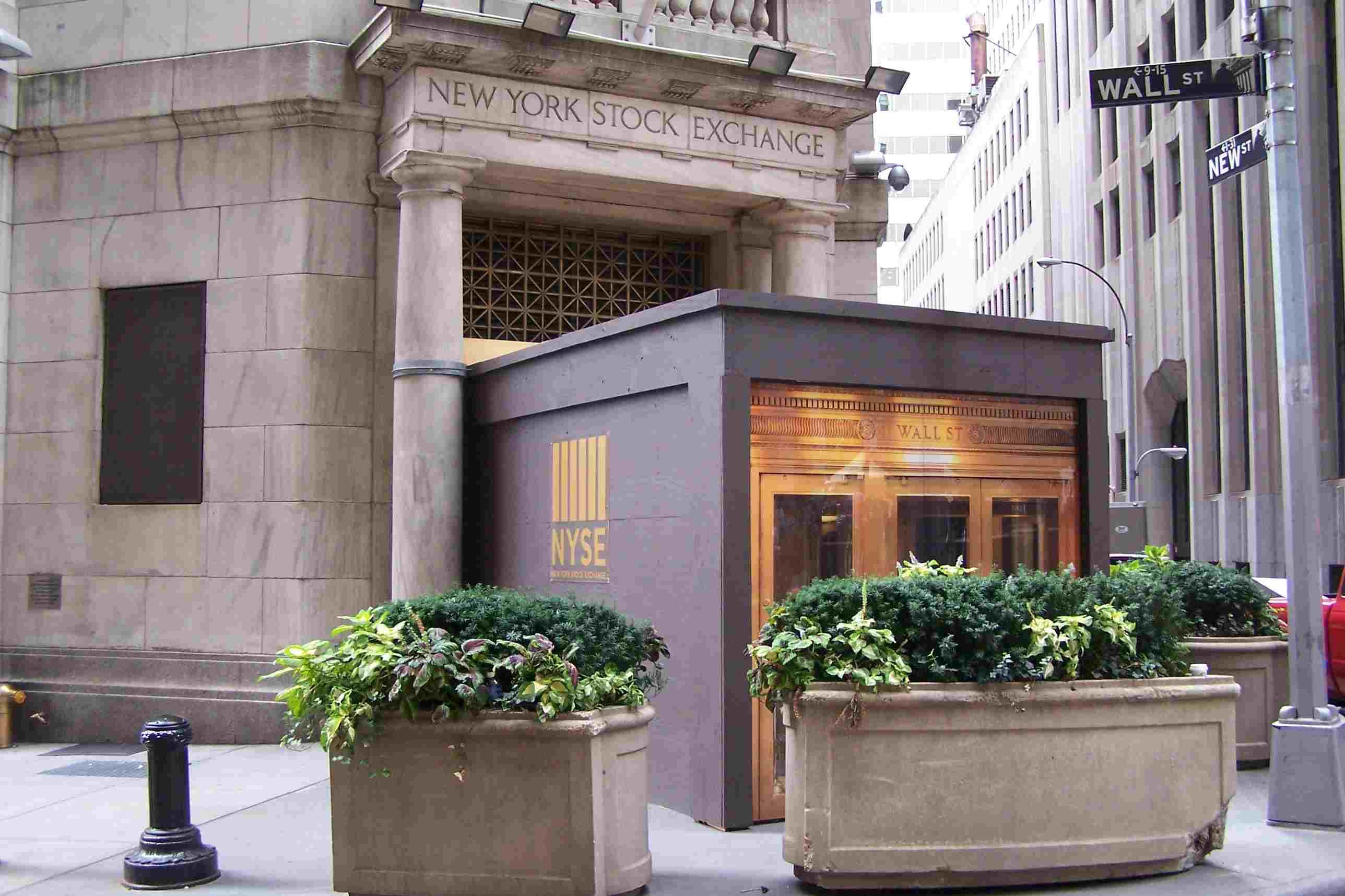New York Stock Exchange Corporate Headquarters, 11 Wall Street, corner of New Street