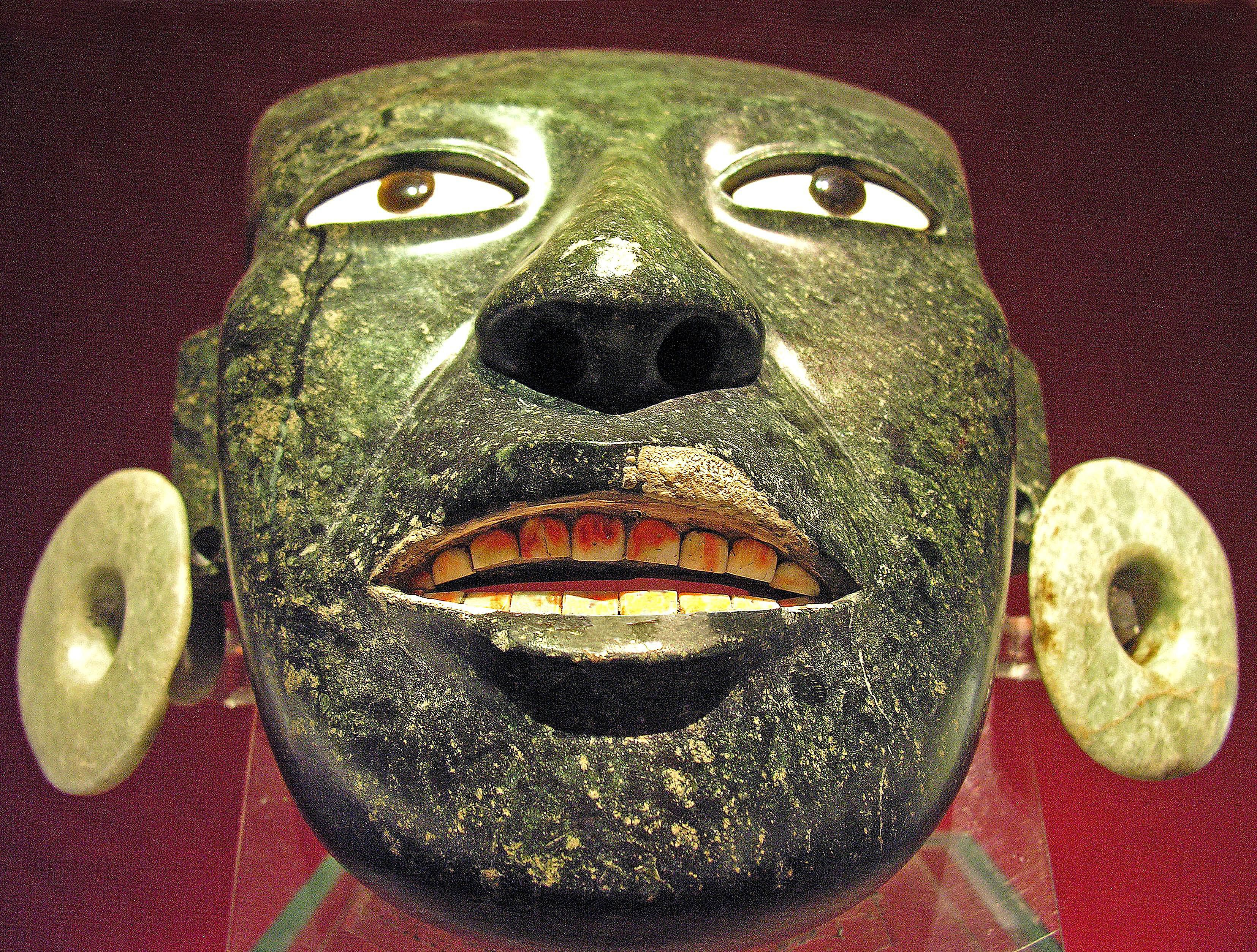 Aztec mask from Mexico