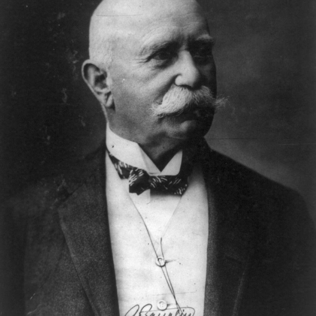 Ferdinand Adolf August Heinrich Graf von Zeppelin (1838-1917).