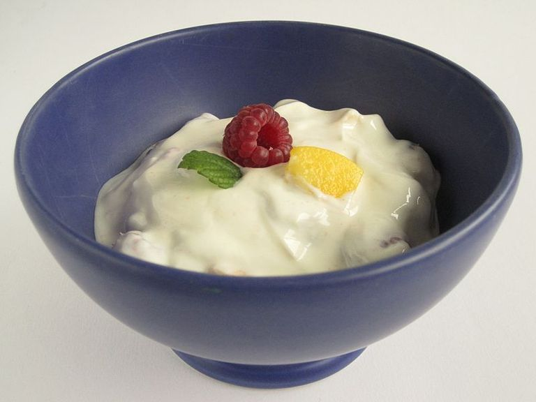Yogurt is produced by bacterial fermentation of milk.