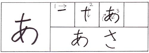 how to write a in japanese hiragana