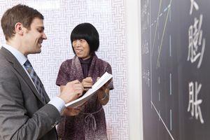 Chinese teacher and German businessman