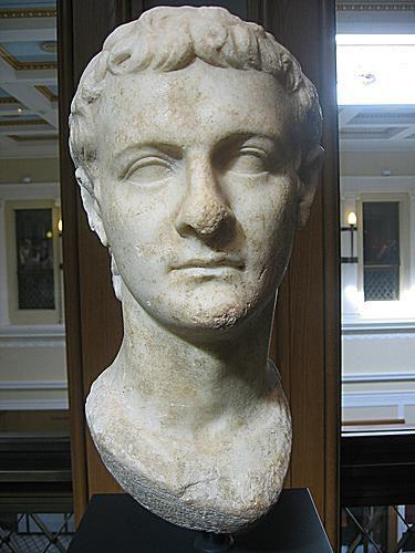 Bust Of Caligula From The Getty Villa Museum In Malibu California