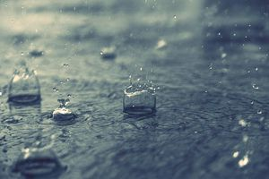 Splashing Water Drops On Road