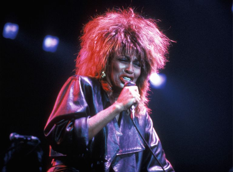 Tina Turner performing on stage