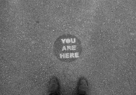 You are here on sidewalk