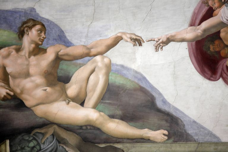 The Creation of Adam, part of the Sistine Chapel.