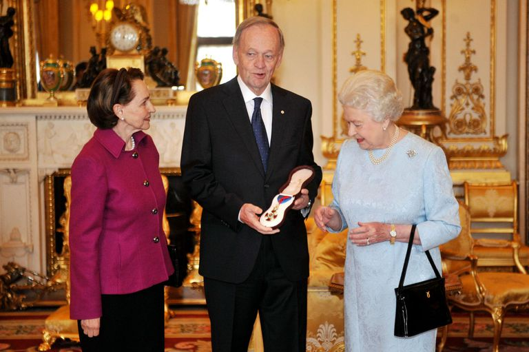 Jean Chretien Receives Order of Merit from Queen Elizabeth