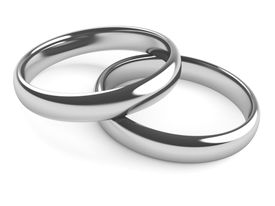 White gold is electroplated with a harder metal, usually rhodium.